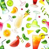 Cocktail seamless pattern Royalty Free Stock Image