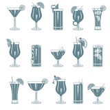 Cocktail set Royalty Free Stock Photos