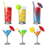 Cocktail set Royalty Free Stock Image