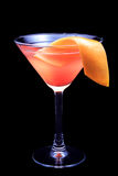 Cocktail Sex on the Beach on a black background Royalty Free Stock Photo