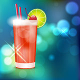 Cocktail on shiny background Stock Image