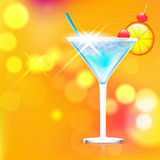 Cocktail on shiny background Stock Photos