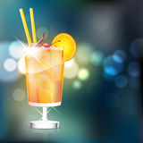 Cocktail on shiny background Royalty Free Stock Photos