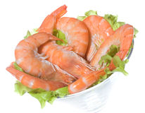 Cocktail with shrimps Stock Photos