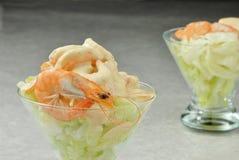 Cocktail shrims royalty-vrije stock afbeelding