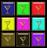 Cocktail sign Royalty Free Stock Images