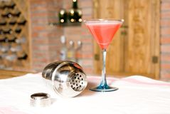 Cocktail  and skaker Stock Photos