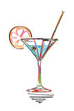 Cocktail sketch Royalty Free Stock Image