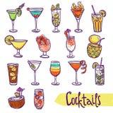 Cocktail Sketch Set Stock Image