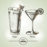 Cocktail sketch Stock Photography