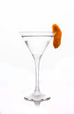 Cocktail with slice of orange zest. In martini glass Royalty Free Stock Photos