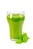 Cocktail with spinach Royalty Free Stock Image