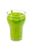 Cocktail with spinach in glassful Stock Image