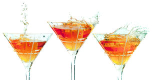 Cocktail splash Royalty Free Stock Photo