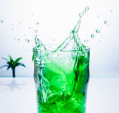 Cocktail splash Stock Photography