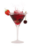 Cocktail splash Stock Images