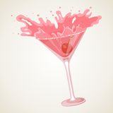 Cocktail with splash Royalty Free Stock Images