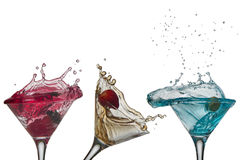Cocktail splash free cups Stock Image