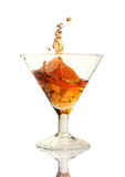 Cocktail splash in the glass Royalty Free Stock Image