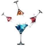 Cocktail splash set isolated on white background Royalty Free Stock Images