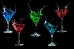 Cocktail splashing set. one of set Royalty Free Stock Photography