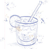 Cocktail Spritz on a notebook page Royalty Free Stock Photo