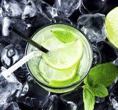 Cocktail square Stock Images