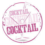 Cocktail Stamp Royalty Free Stock Images