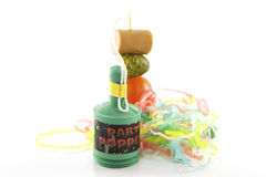 Cocktail Stick and Party Popper Royalty Free Stock Image