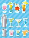 Cocktail stickers - vector Stock Photo