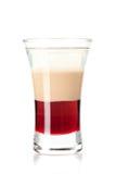 Cocktail stratificato tre - amore libero Fotografia Stock