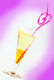 Cocktail with straw Royalty Free Stock Image
