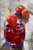 Cocktail of strawberries Stock Photo