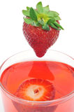 Cocktail with strawberries Stock Image