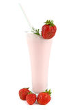 Cocktail with strawberry Royalty Free Stock Photo