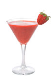 Cocktail with strawberry Royalty Free Stock Images