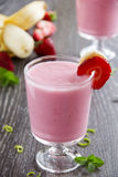 Cocktail strawberry and banana Stock Images