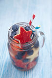 Cocktail with strawberry, blueberry and apple Royalty Free Stock Photos