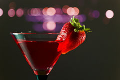 Cocktail with strawberry Royalty Free Stock Photos