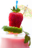 Cocktail with strawberry and mango Royalty Free Stock Photos