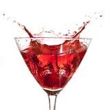Cocktail strawberry splash Royalty Free Stock Photo