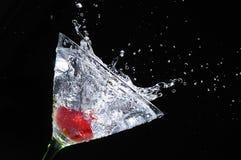 Cocktail strawberry splash stock photo