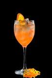Cocktail su una priorità bassa nera Fotografie Stock