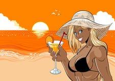 Cocktail sulla spiaggia Immagini Stock