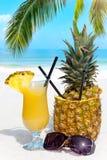 Cocktail sulla spiaggia Fotografie Stock Libere da Diritti
