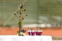 Cocktail sulla tavola Fotografia Stock Libera da Diritti