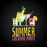 Cocktail summer party royalty free illustration
