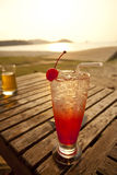 Cocktail and sunset Royalty Free Stock Photo