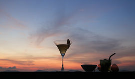 Cocktail at Sunset Royalty Free Stock Image