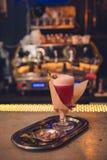 Cocktail sur la barre Photos stock